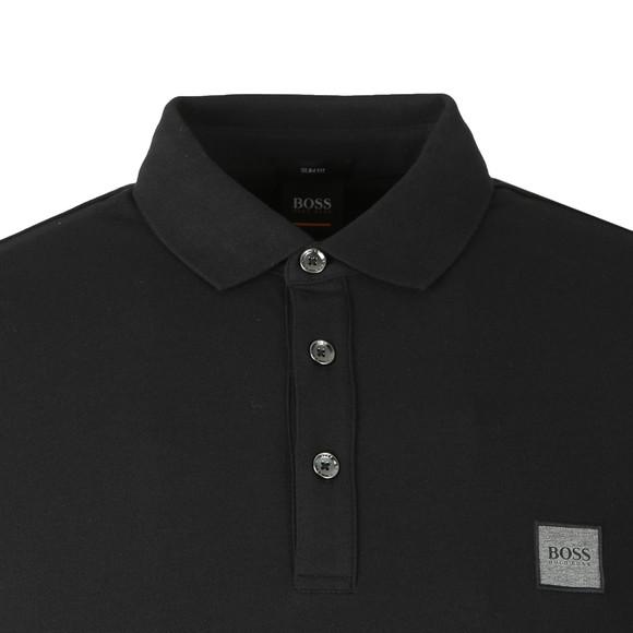 BOSS Mens Black Casual Passerby Long Sleeve Polo Shirt