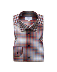 Eton Mens Red Multi Check Shirt