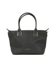 Ted Baker Womens Black Ciscki Reflective Small Nylon Tote Bag