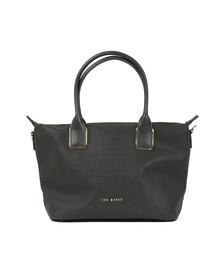 Ted Baker Womens Black Ciscki Reflective Small Nylon Tote Bag