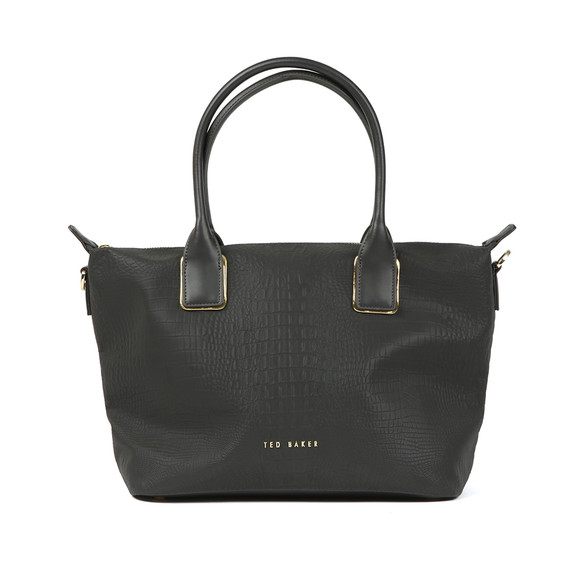 Ted Baker Womens Black Ciscki Reflective Small Nylon Tote Bag main image