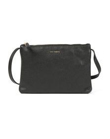 Ted Baker Womens Black Maceyy Tassle Double Zipped XBody Bag
