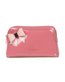 Ted Baker Womens Pink Ixoriaa Core Bow Makeup Bag