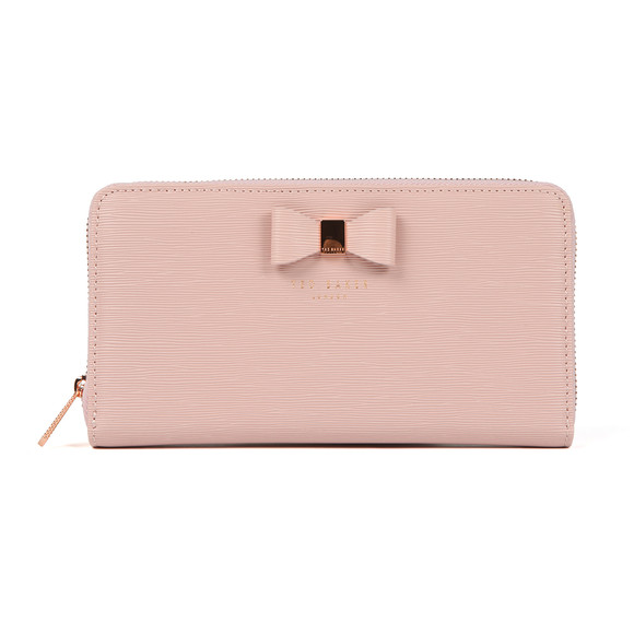 Ted Baker Womens Pink Peony Textured Zip Around Matinee Purse main image