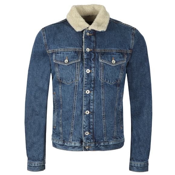 Diesel Mens Blue D-Gioc Fur Denim Jacket main image