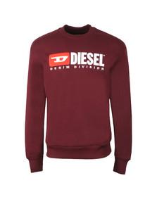 Diesel Mens Red Crew Division Sweatshirt