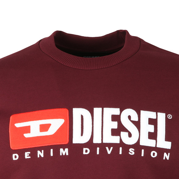Diesel Mens Red Crew Division Sweatshirt main image