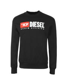 Diesel Mens Black Crew Division Sweatshirt