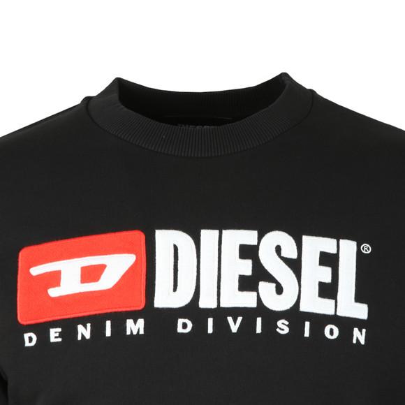 Diesel Mens Black Crew Division Sweatshirt main image