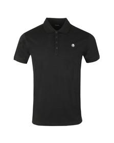 Diesel Mens Black Weet Polo Shirt
