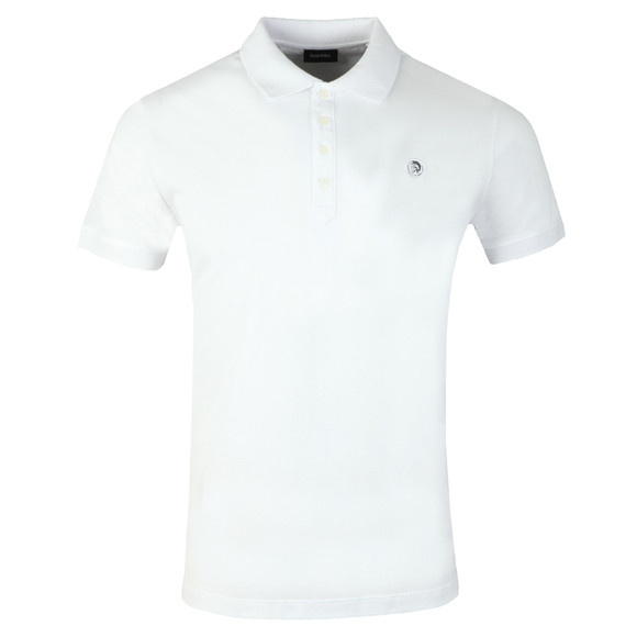 Diesel Mens White Weet Polo Shirt main image