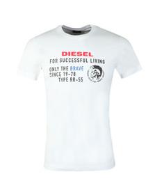 Diesel Mens White Diego XB T-Shirt