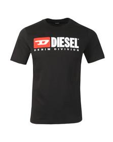 Diesel Mens Black Division Crew T-Shirt