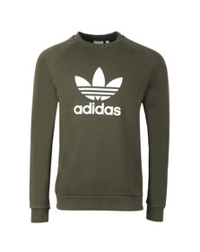 adidas Originals Mens Green Trefoil Crew Sweat