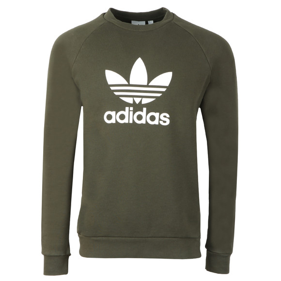 Adidas Originals Mens Green Trefoil Crew Sweat main image