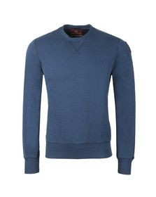 Parajumpers Mens Blue Caleb Basic Sweatshirt
