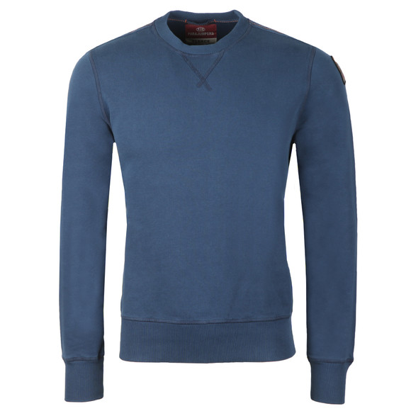 Parajumpers Mens Blue Caleb Basic Sweatshirt main image