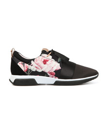 Ted Baker Womens Black Cepap 2 Printed Lace Up Trainer