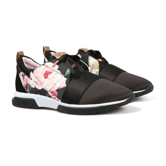Ted Baker Womens Black Cepap 2 Printed Lace Up Trainer main image