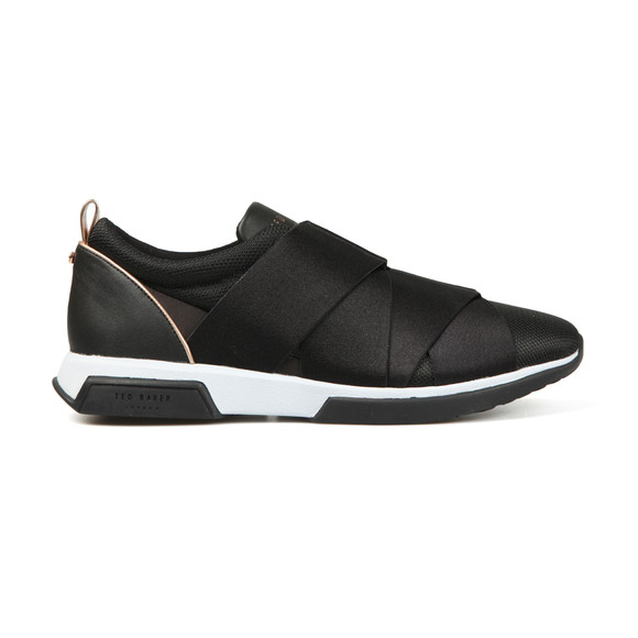 Ted Baker Womens Black Queanem Elastic Strap Detail Trainers main image