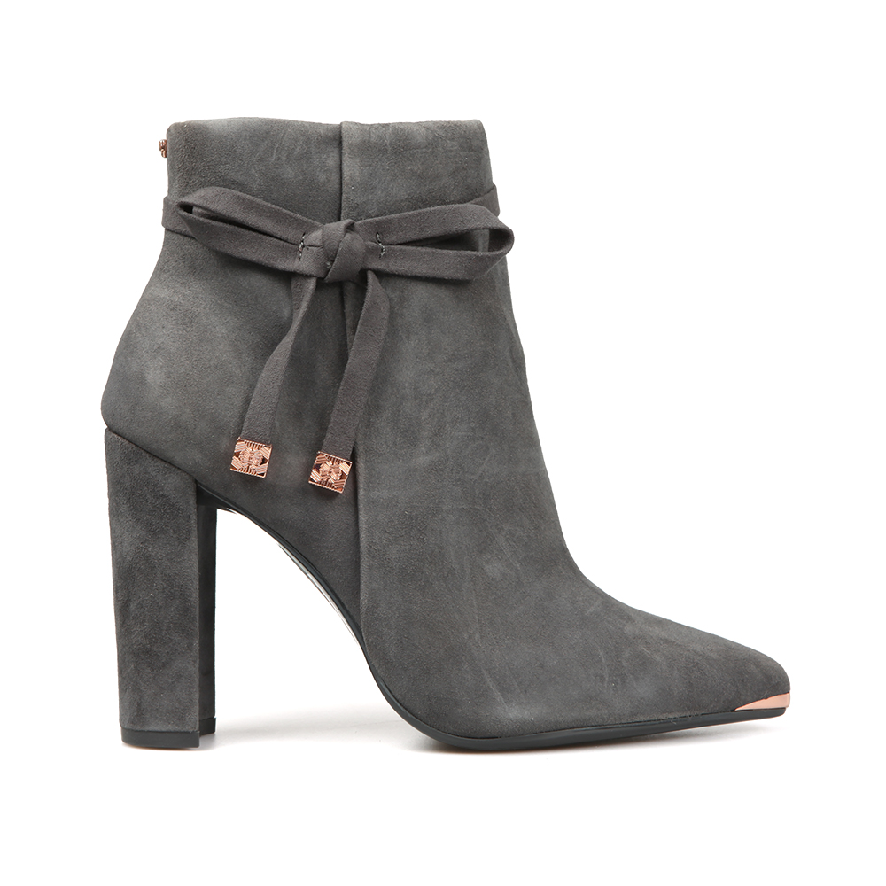 Qatena Suede Bow Detail Ankle Boots main image