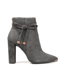 Ted Baker Womens Grey Qatena Suede Bow Detail Ankle Boots