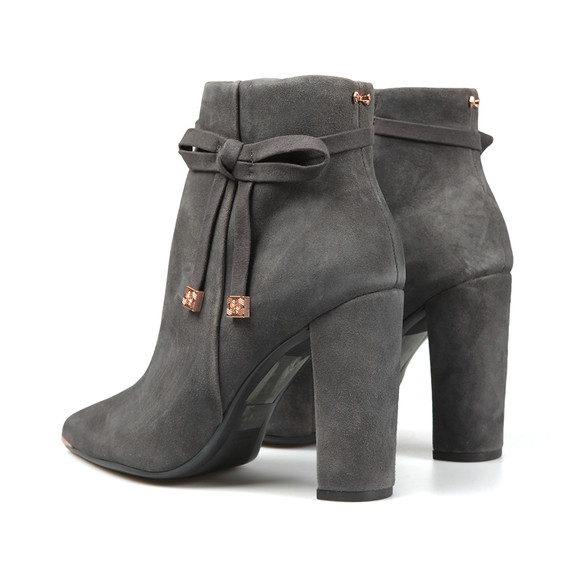 120f2fde1d2a32 Ted Baker Womens Grey Qatena Suede Bow Detail Ankle Boots main image