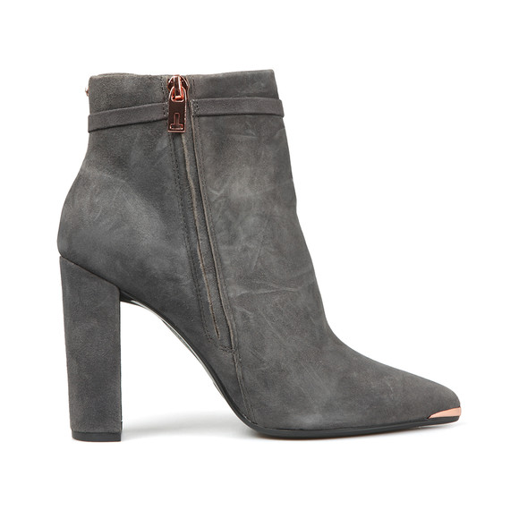 Ted Baker Womens Grey Qatena Suede Bow Detail Ankle Boots main image