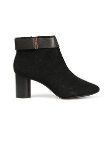 Ted Baker Womens Black Mharia Circular Heel Ankle Boots