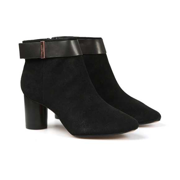 Ted Baker Womens Black Mharia Circular Heel Ankle Boots main image