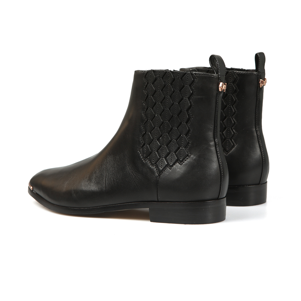 Liveca Elastic Detail Leather Ankle Boot main image