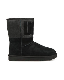 Ugg Womens Black Classic Short Logo Sparkle Boot
