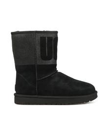 Ugg Womens Black Classic Short Logo Sparkle Boot