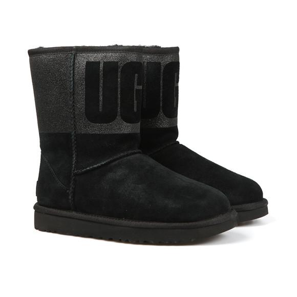Ugg Womens Black Classic Short Logo Sparkle Boot main image