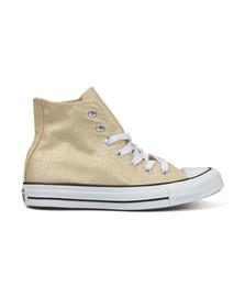 Converse Womens Gold Metallic Glitter All Star Hi