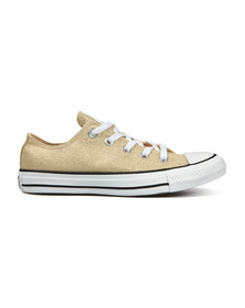 Converse Womens Gold Metallic Glitter All Star Ox