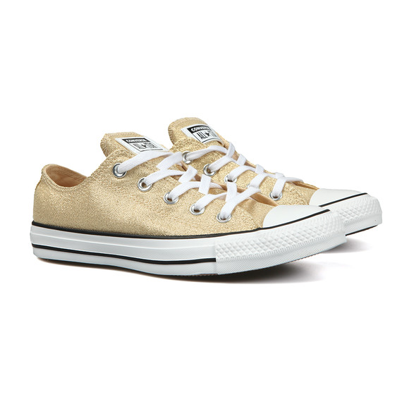 Converse Womens Gold Metallic Glitter All Star Ox main image