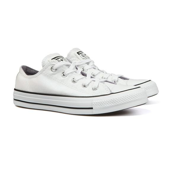 Converse Womens White Metallic Glitter All Star Ox main image