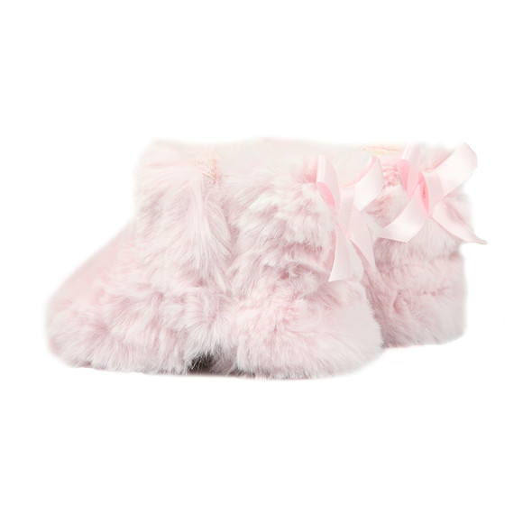 Ugg Girls Pink Jesse Bow II Fluff Bootie main image