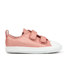 Converse Girls Pink Kids Glitter Ox