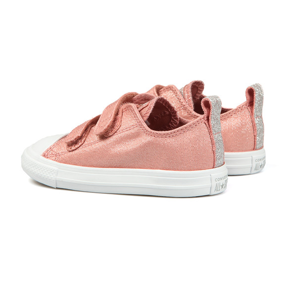 Converse Girls Pink Kids Glitter Ox main image