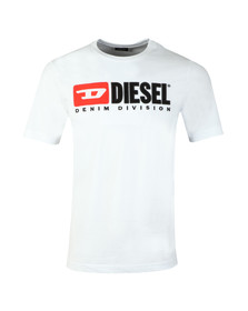 Diesel Mens White Division Crew T-Shirt