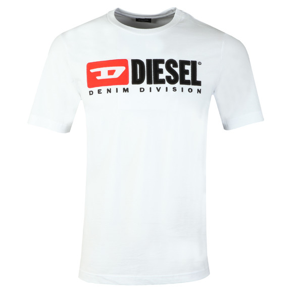 Diesel Mens White Division Crew T-Shirt main image