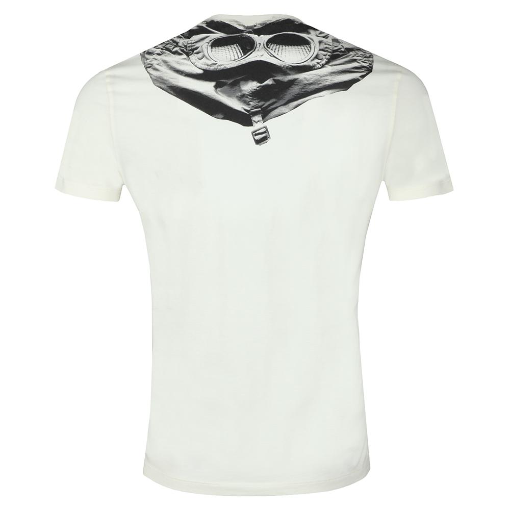 7887e40b ... C.P. Company Mens Off-White Printed Goggle T Shirt main image