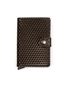 Secrid Mens Black Cubic Mini Wallet