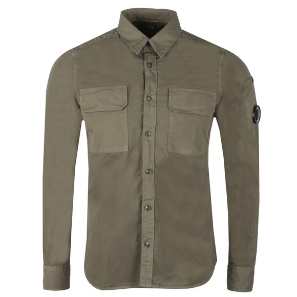 C.P. Company Mens Green Military Pocket Shirt main image