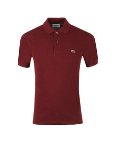 Lacoste Mens Red Lacoste L1264 Plain Polo