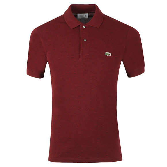 Lacoste Mens Red Lacoste L1264 Plain Polo main image