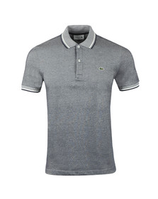 Lacoste Mens Blue S/S PH9433 Tipped Marl Polo