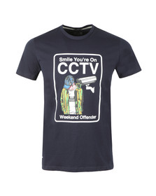 Weekend Offender Mens Blue CCTV T Shirt